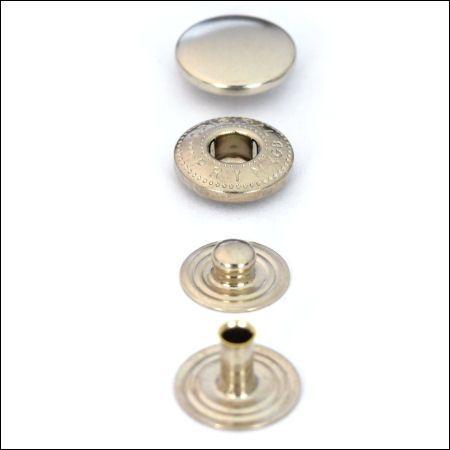 Druckknöpfe mit S-Feder | nickel