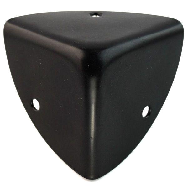 Kofferecken 45 mm | BLACK LINE seidenmatt schwarz