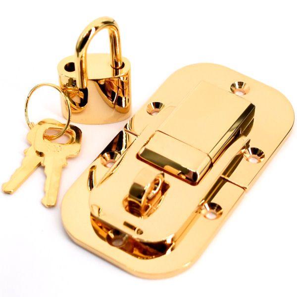 PREMIUM-Kofferschloss | vergoldet 24 kt