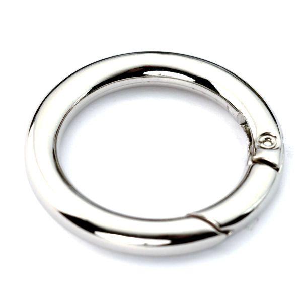 Karabiner-Ring 30 mm | nickel pol.