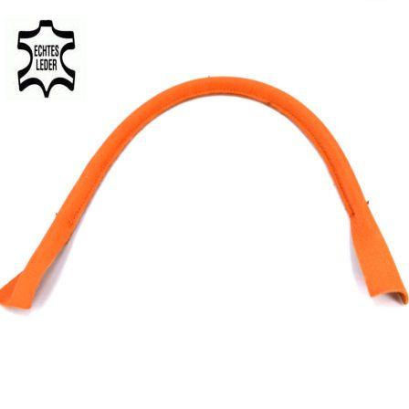 Taschenhenkel 50 cm, ECHT LEDER orange