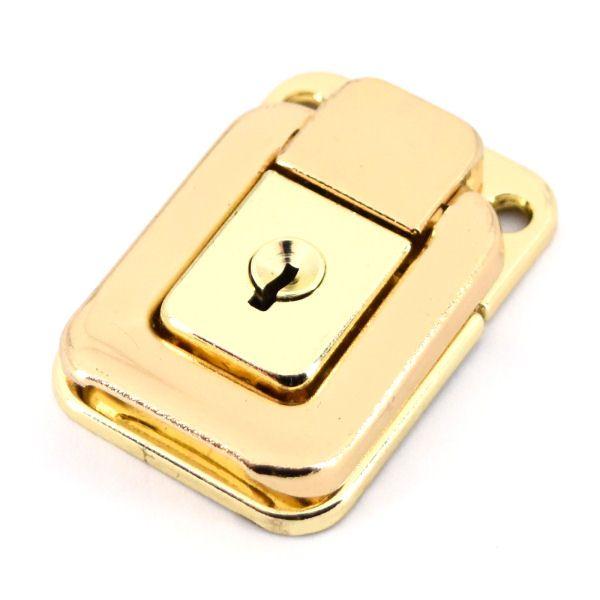 Kofferschloss, klein   gold pol.