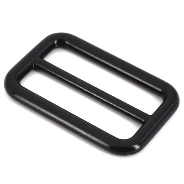DESIGN-Schiebeschnalle 40 mm   BLACK LINE seidenmatt schwarz