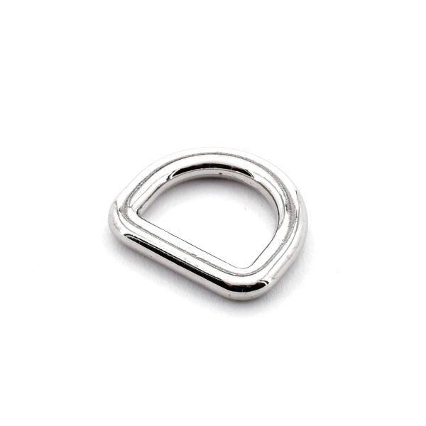 DESIGN D-Ring 15 mm | nickel pol.