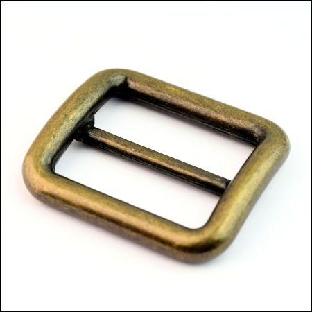 DESIGN-Schiebeschnalle 30 mm | altmessing