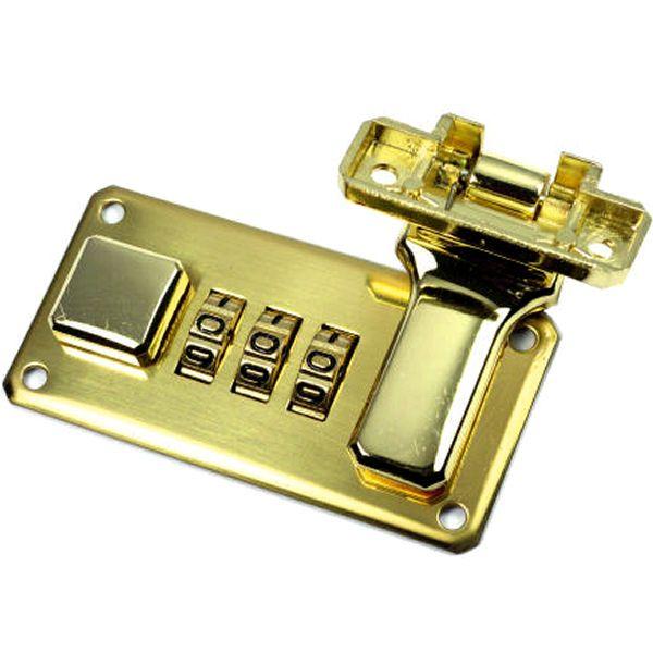 Zahlenschloss 66 mm | gold pol.