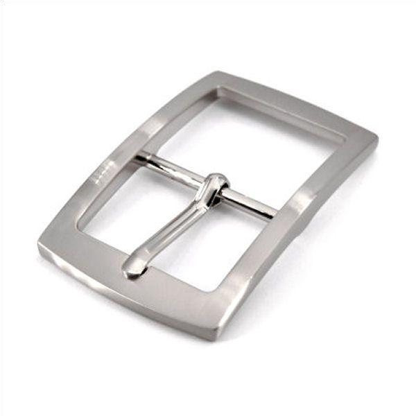 Doppel-Gürtelschnalle 30 mm | nickel gebürstet