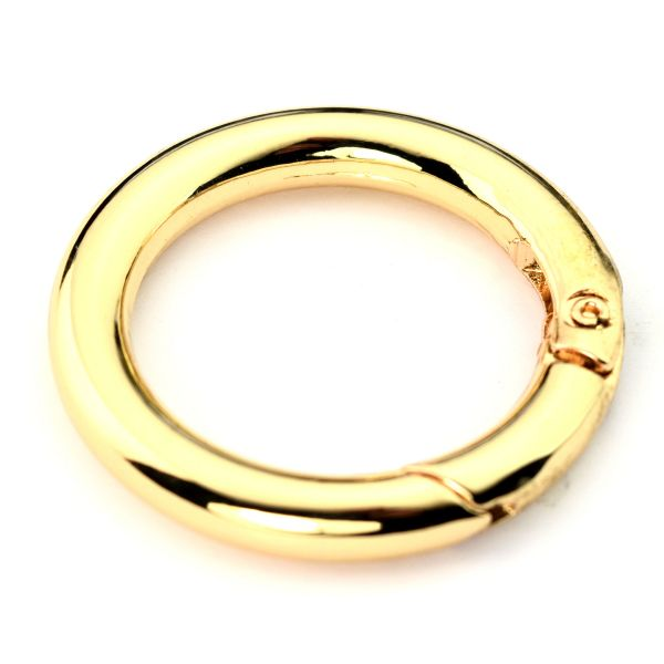 Karabiner-Ring 30 mm | gold pol.