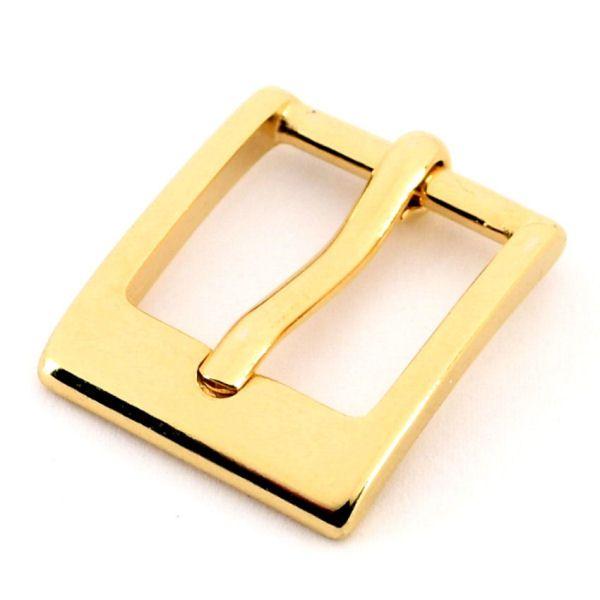 DESIGN-Gürtelschnalle 25 mm   gold pol.