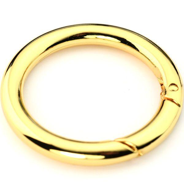 Karabiner-Ring 40 mm | gold pol.