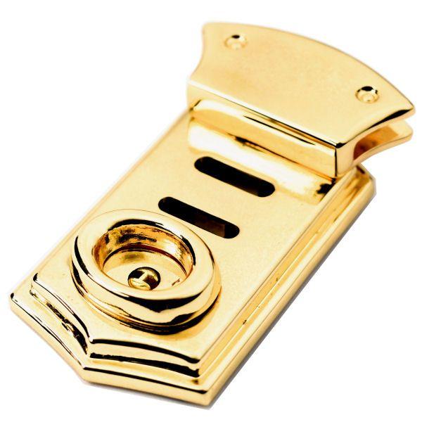 Leiterschloss, massiv | gold pol.