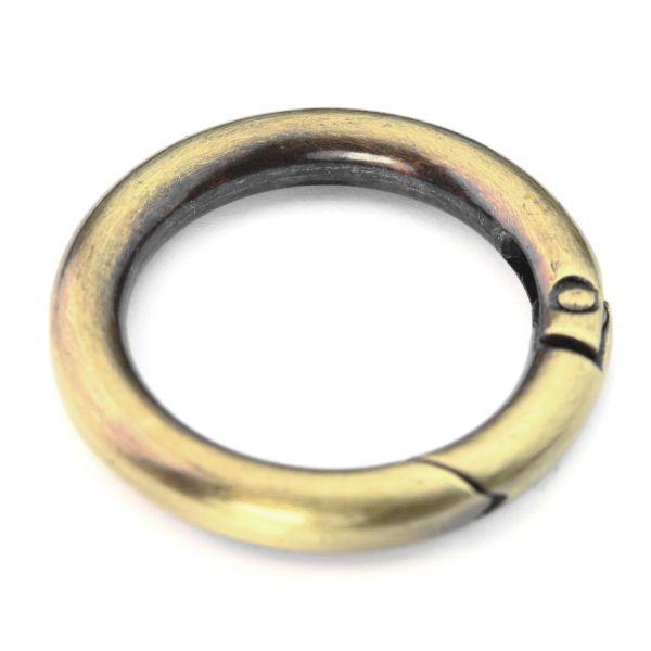 Karabiner-Ring 30 mm | altmessing