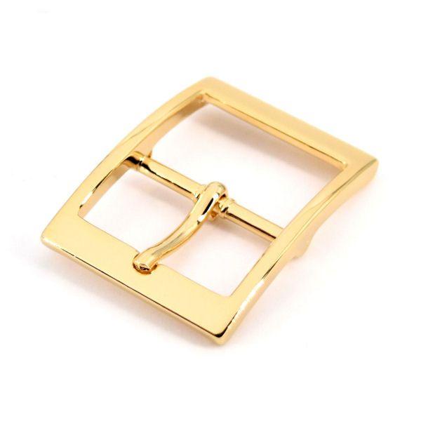 Doppel-Gürtelschnalle 30 mm   gold pol.