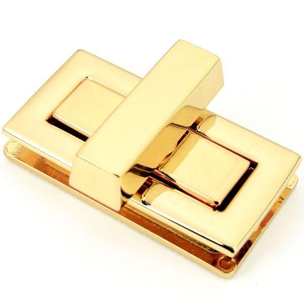 DESIGN Drehverschluss 42x22mm | gold pol.