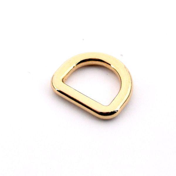 DESIGN D-Ring 15 mm   gold pol.