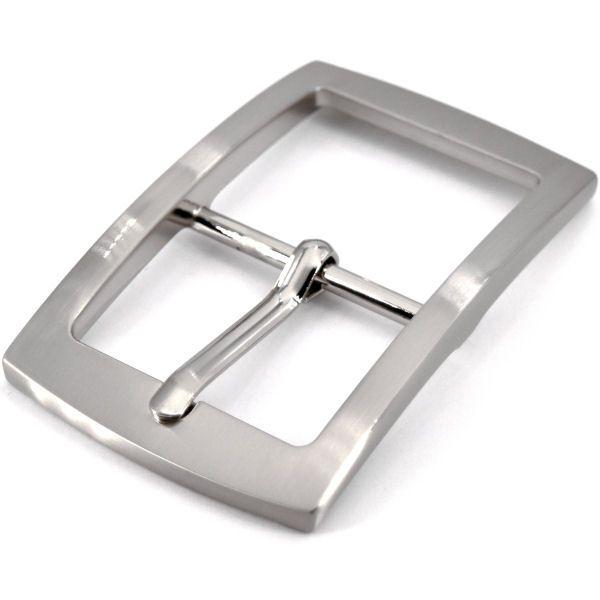 Doppel-Gürtelschnalle 40 mm | nickel gebürstet