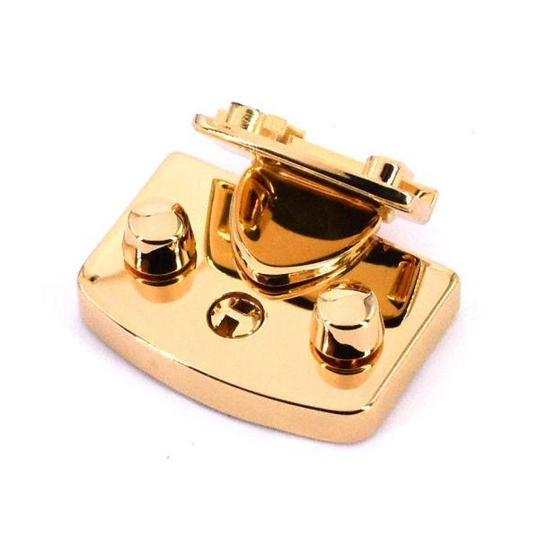 Mappenschloss, massiv | gold pol.