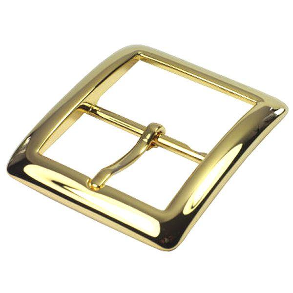 Doppel-Gürtelschnalle 40 mm   gold pol.
