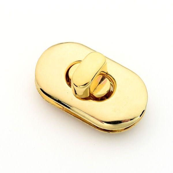 Drehverschluss 36x20mm | gold pol.