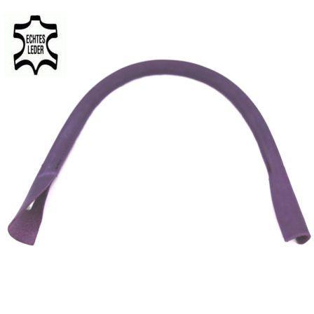 Taschenhenkel 50 cm, ECHT LEDER lila violett