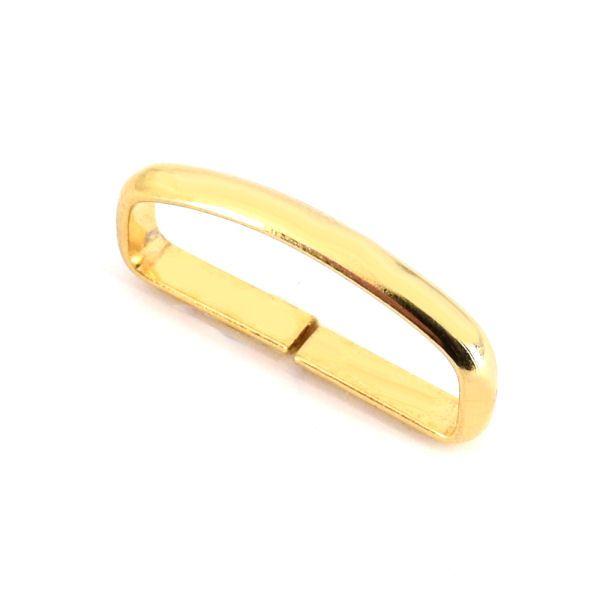 Schlaufe, Flachdraht | 30mm | gold pol.