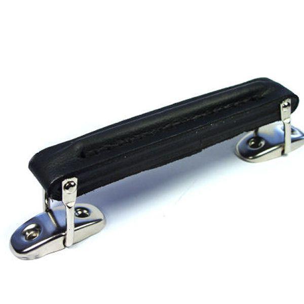 Koffergriff ECHT LEDER | schwarz