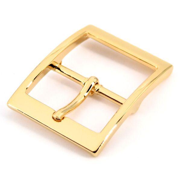 Doppel-Gürtelschnalle 35 mm | gold pol.