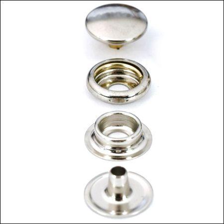 Druckknöpfe mit Ringfeder | vernickelt
