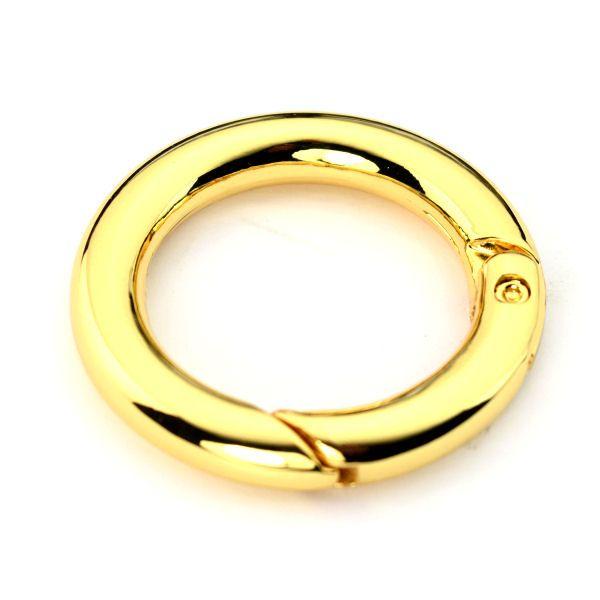 Karabiner-Ring 25 mm   gold pol.