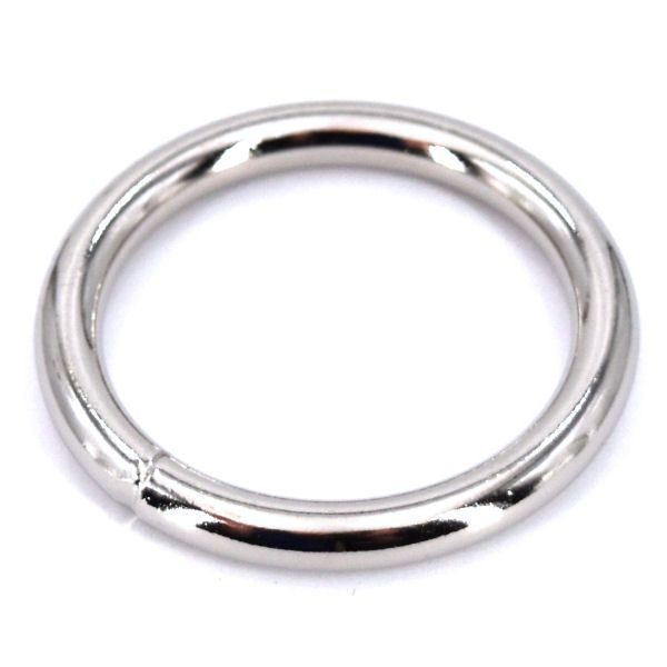 Ring, geschweisst | 40mm | vernickelt
