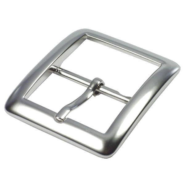 Doppel-Gürtelschnalle 40 mm | nickel matt