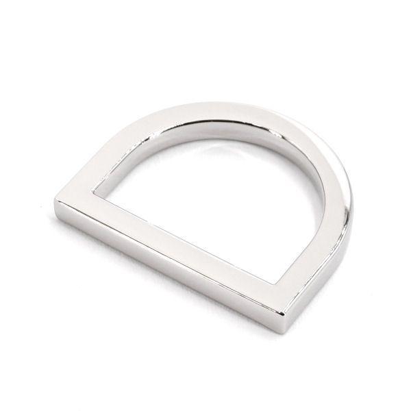 DESIGN D-Ring 25 mm   nickel pol.