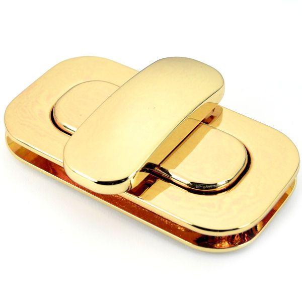 XXL Drehverschluss 65x35mm | gold pol.