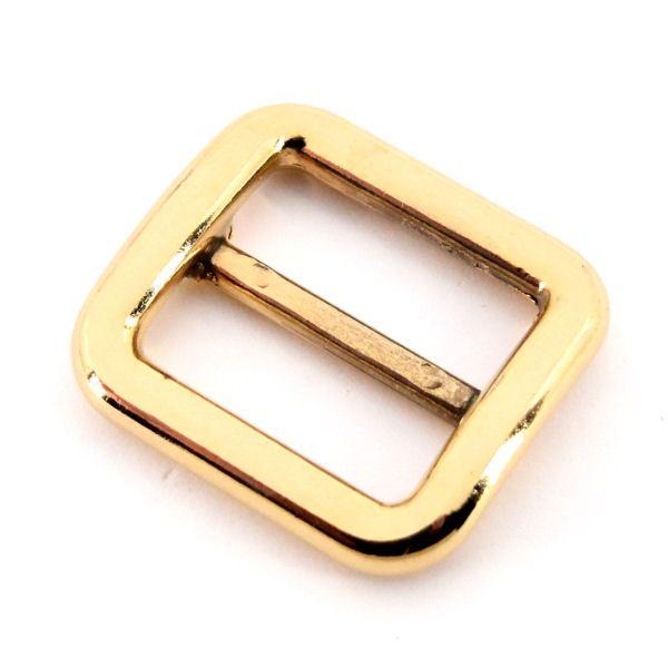 DESIGN-Schiebeschnalle 25 mm   gold pol.