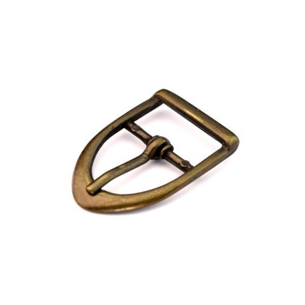 DESIGN-Dornschnalle 15 mm | altmessing