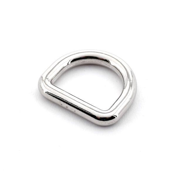 DESIGN D-Ring 20 mm   nickel pol.