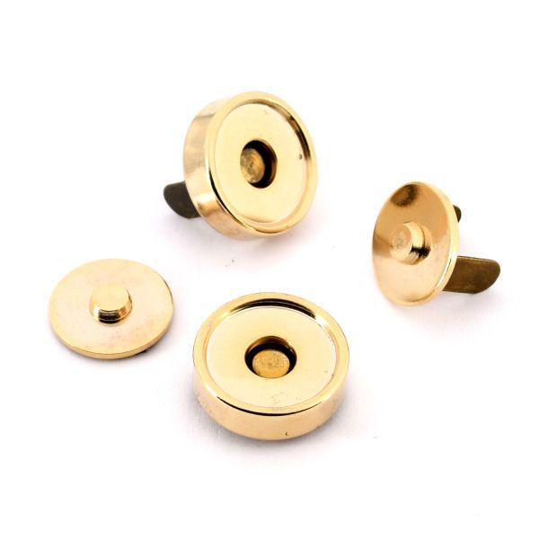 Magnetschloss 18 mm, mit Rand | gold pol.