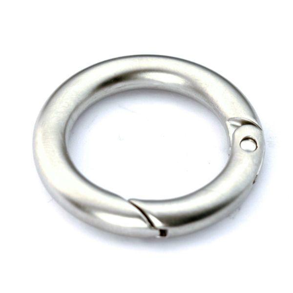 Karabiner-Ring 25 mm | nickel matt
