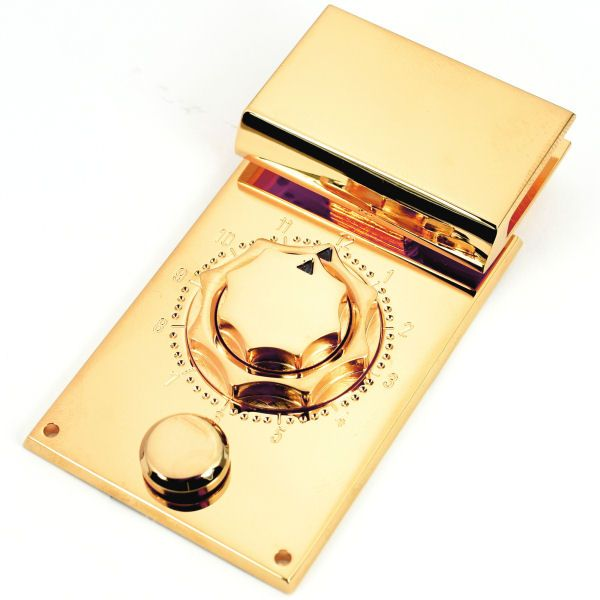 PREMIUM-Mappenschloss CHRONOS | vergoldet 24 kt