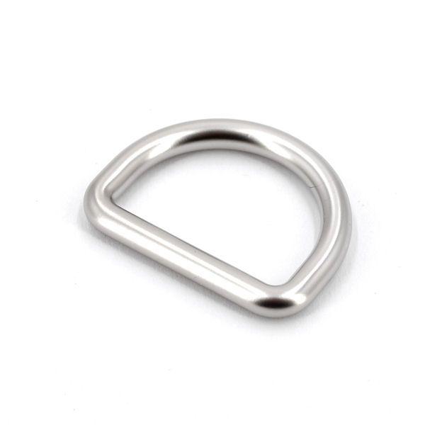 DESIGN D-Ring 25 mm | nickel matt