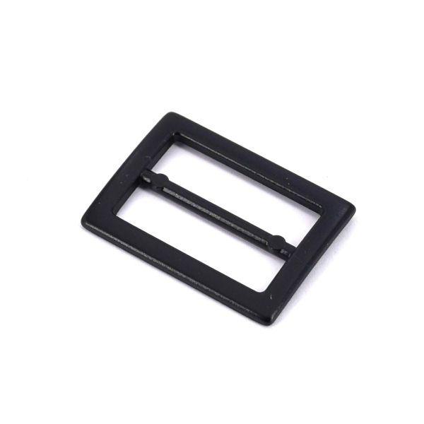 DESIGN-Schiebeschnalle 20 mm | BLACK LINE seidenmatt schwarz