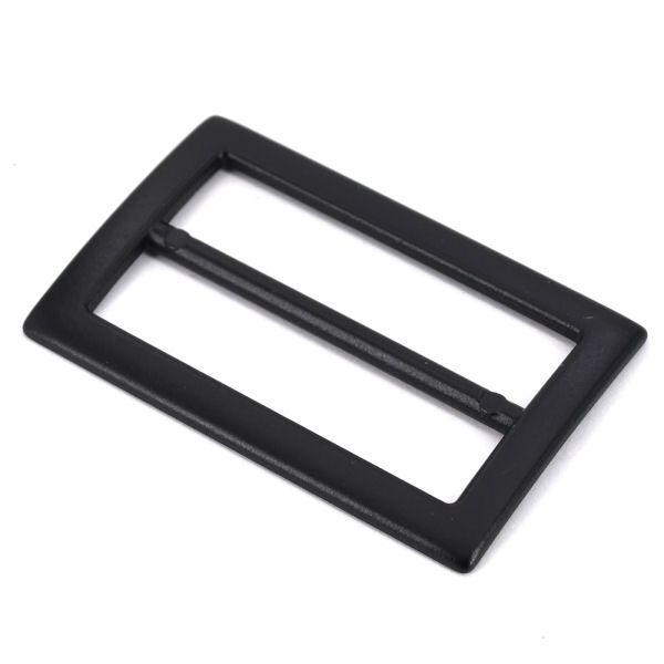 DESIGN-Schiebeschnalle 40 mm | BLACK LINE seidenmatt schwarz