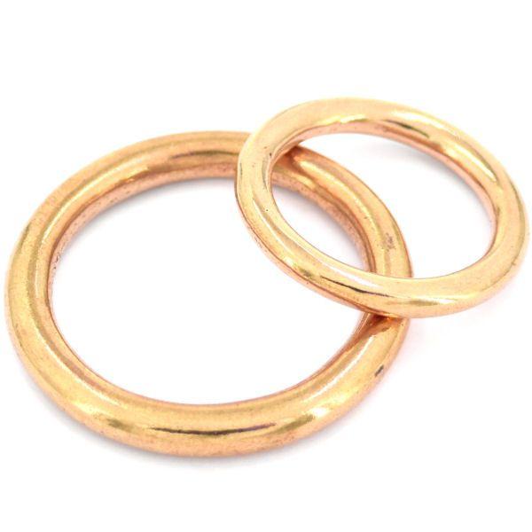 runde Ringe, gegossen   MESSING