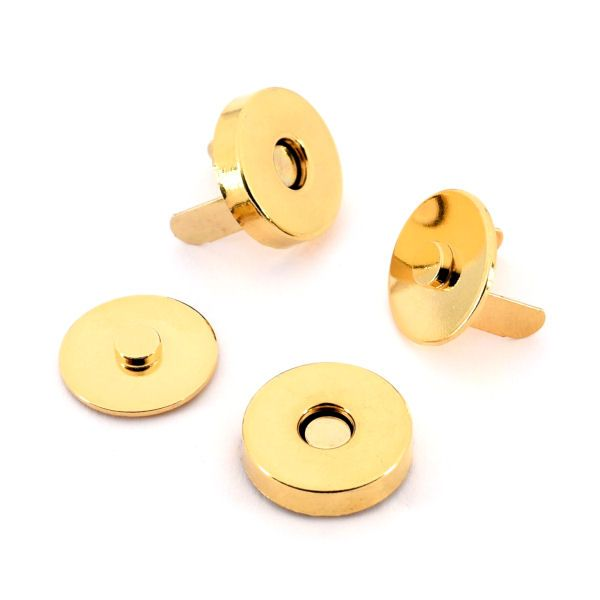 Magnetschloss 18 mm   gold pol.