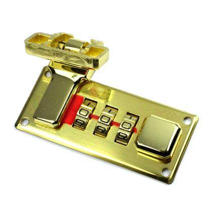 Zahlenschloss 63 mm | gold pol.