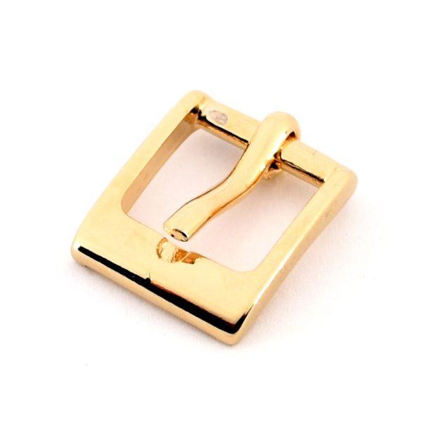 DESIGN-Gürtelschnalle 15 mm   gold pol.