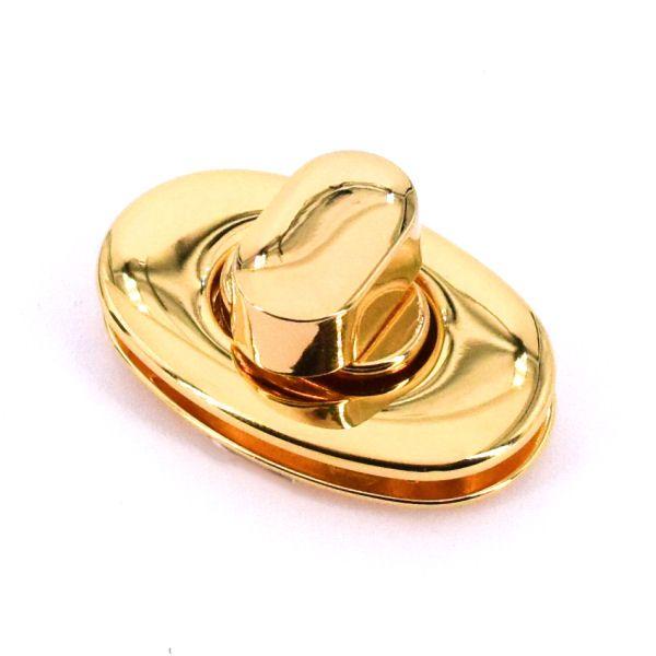 DESIGN Drehverschluss 45x25mm | gold pol.