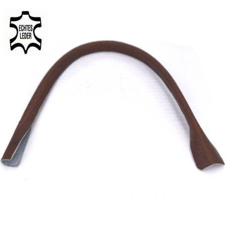 Taschenhenkel 50 cm, ECHT LEDER braun