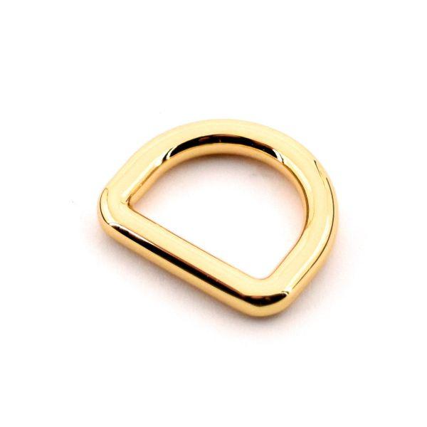 DESIGN D-Ring 20 mm | gold pol.