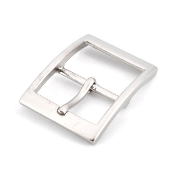 Doppel-Gürtelschnalle 30 mm | nickel matt